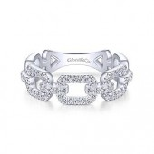 14K White Gold 0.37 CTW Diamond Stackable Ring