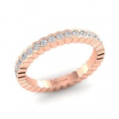 14K Rose Gold 0.57 CTW Diamond Stackable Band