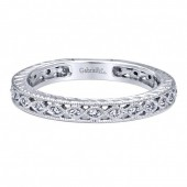 14K WHITE GOLD CUT-OUT STACKABLE BAND