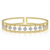 14KY .71CTW Fashion Diamond Bangle