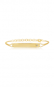 14K Yellow Gold 0.02 CTW Diamond Engravable Bar Bracelet