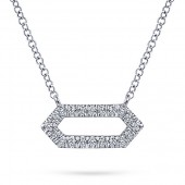 14KW .10CTW Diamond Pendant