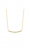 14KY .09CTW Curved Geometric Diamond Bar Necklace