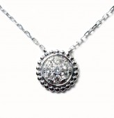 18KW Diamond Cluster Pendant