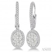 14K White Gold Diamond Lovebright Earrings