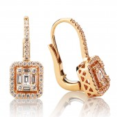 18K Rose Gold 0.86 CTW Diamond Earrings