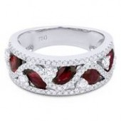 14KW .94CTW Diamond 1.26CTW Ruby Ring