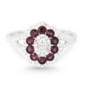14KW .50CTW Diamond .57CTW Ruby Ring