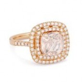 14KR .44CTW Diamond 2.61CT Morganite RIng