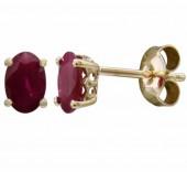 14K Yellow Gold 1.08 CTW Ruby Earrings