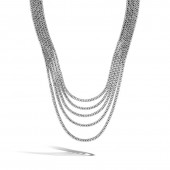 CLASSIC MULTI-ROW STERLING SILVER NECKLACE