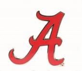 Large Red Enamel University of Alabama Lapel Pin