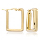 14K YELLOW GOLD SMALL SQUARE HOOP EARRINGS