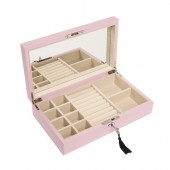 Pink Hinged Jewelry Box