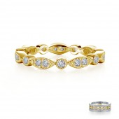 Stackable Wave Eternity Band