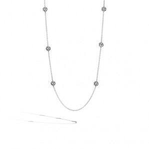 Women's Dot Collection Sterling Silver Station Necklace, 36