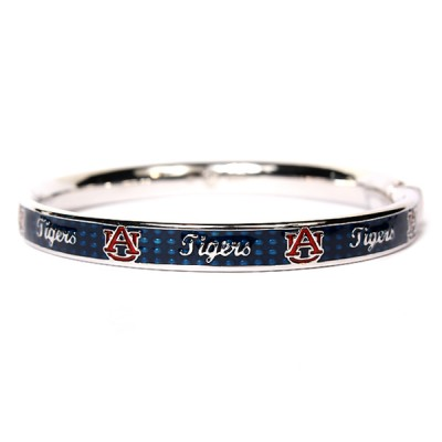 Auburn University Sterling Silver and Blue Enamel Bangle Bracelet
