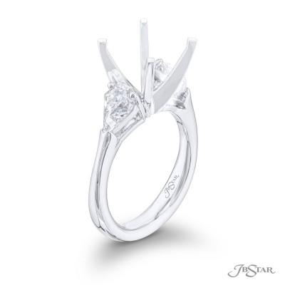 Platinum 0.55 CTW Diamond Semi Mount Engagement Ring