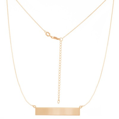 Sterling Silver Gold Plate Bar Adjustable Necklace