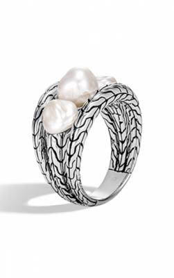 John Hardy Classic Chain Freshwater Pearl Ring