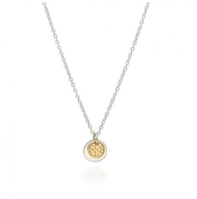 Anna Beck Sterling Silver Gold Plate Disc Necklace
