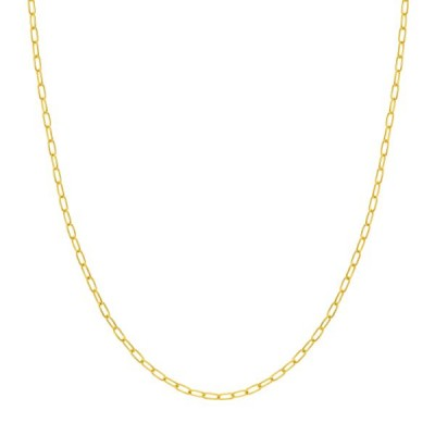 14K Yellow Gold Paperclip Chain Necklace
