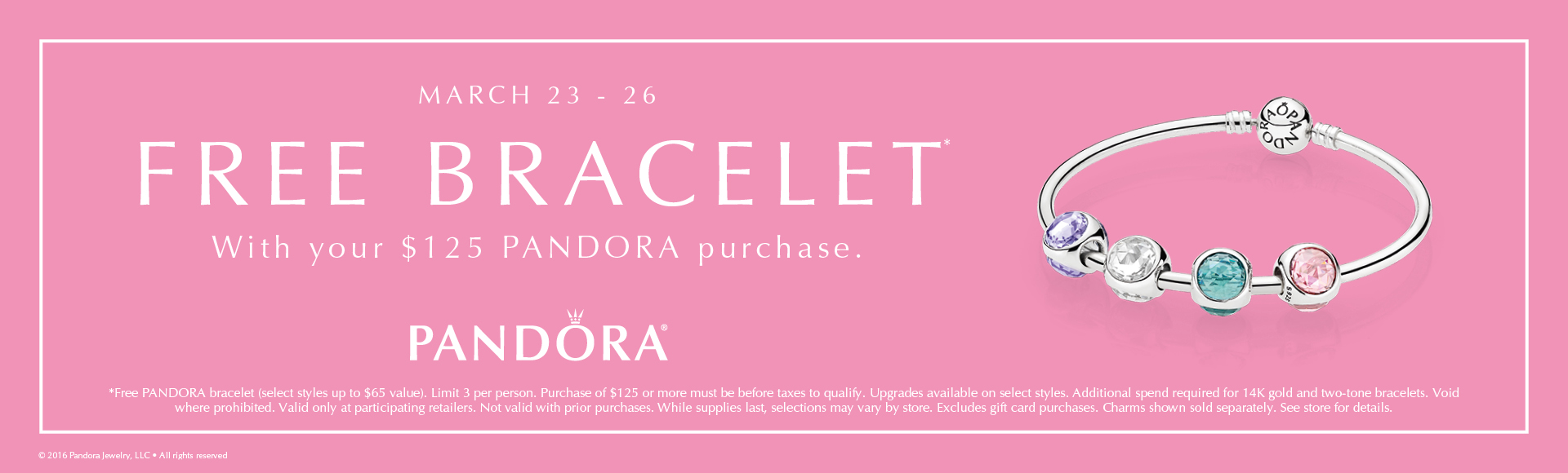 March Pandora Free Bracelet Event!