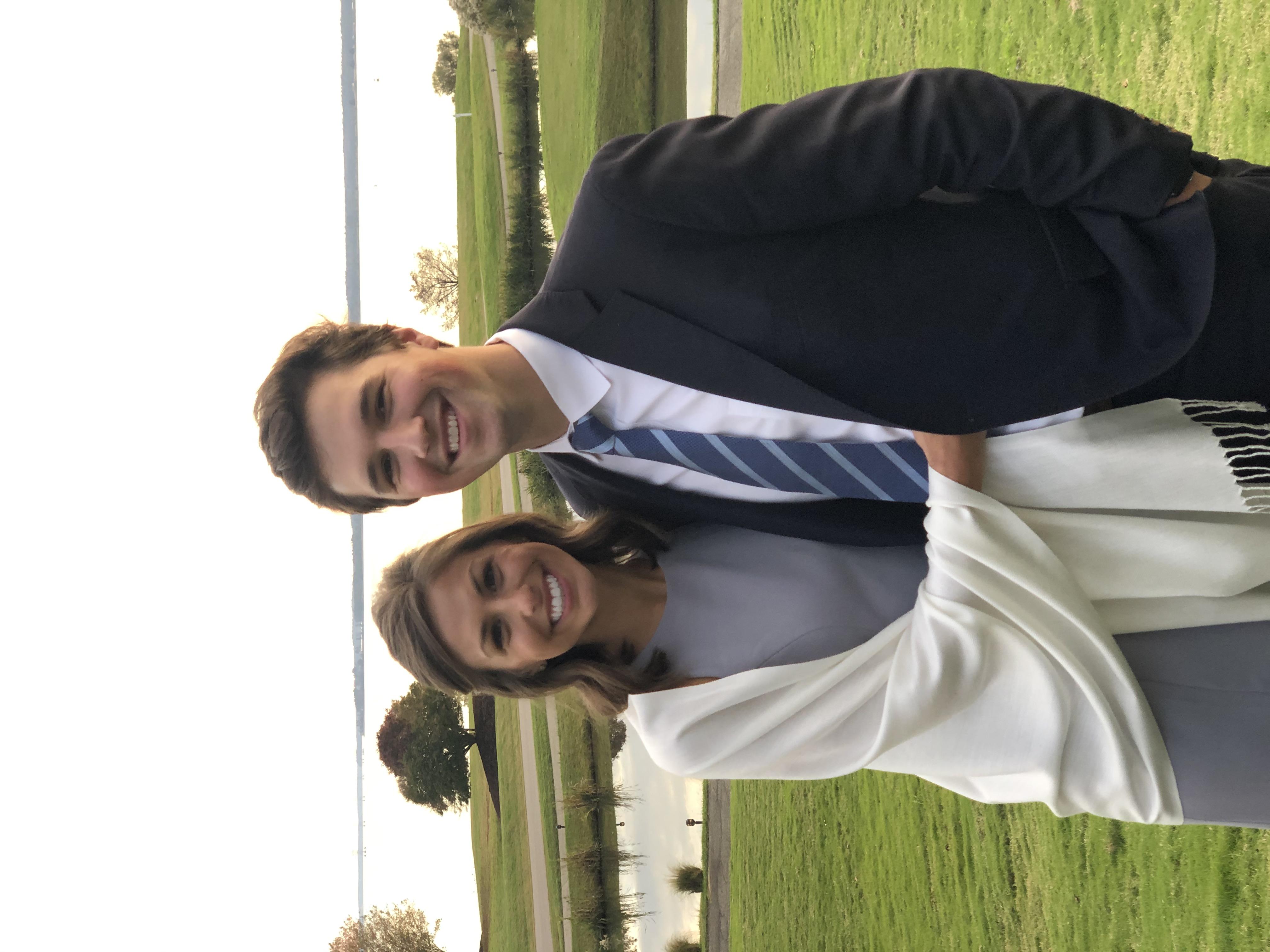 Meredith Napoleon and Evan Harrison