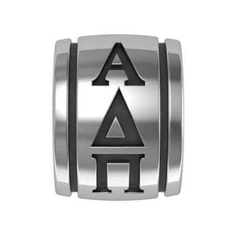 Alpha Delta Pi Sorority Sterling Silver Barrel Bead 509 29459 Hudson Poole Fine Jewelers